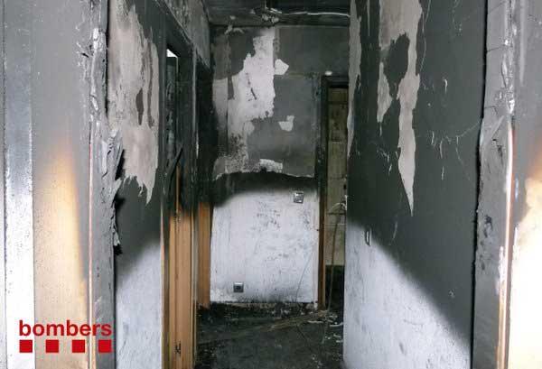 La vivienda quedó completamente destruida