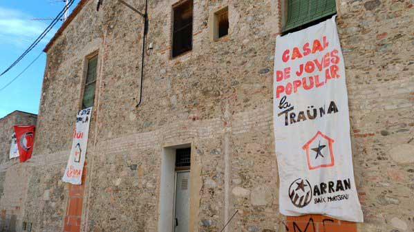 Aspecto del edificio tras la ocupación de Arran