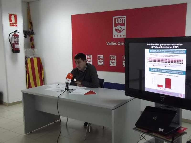 El secretario comarcal de UGT, Òscar Rius, presentado otro informe