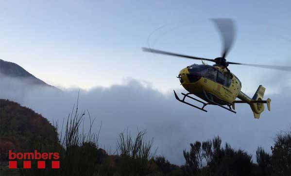 Medios terrestres y un helicóptero buscan a los desaparecidos