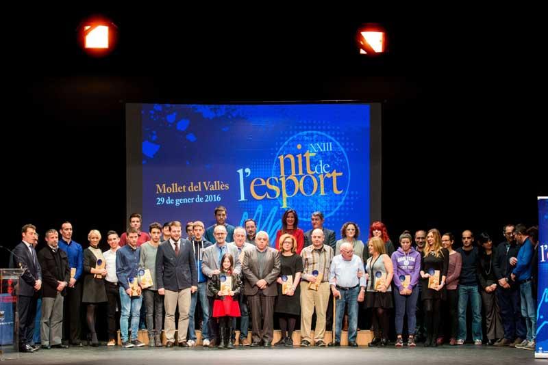 Los ganadores de la XXIII Nit de l'Esport de Mollet