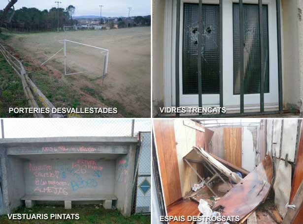 Algunos de los daños denunciados por el Ayuntamiento. Foto: Ajt. de Sant Pere de Vilamajor