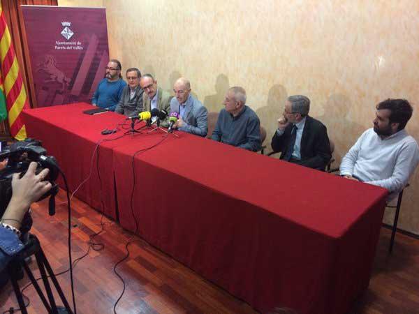 La rueda de prensa de los alcaldes socialistas