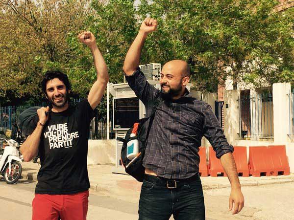 El activista de la Garriga trs ser dejado en libertad. Foto: Sara Montsinos