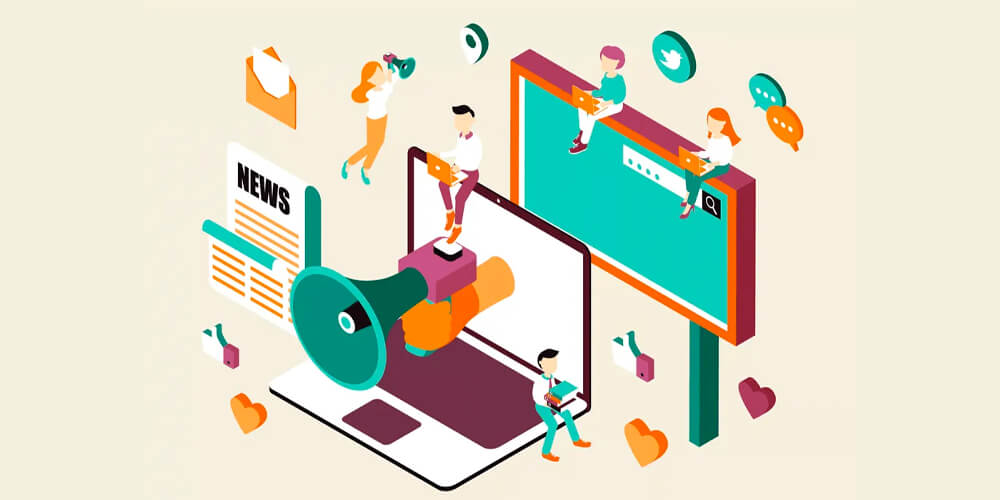 Revista Digital On-line: Desenho fazendo alusão a criação de anúncios
