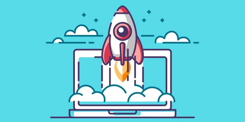 Revista Digital On-line: Desenho de um foguete decolando passando a ideia de ascensão