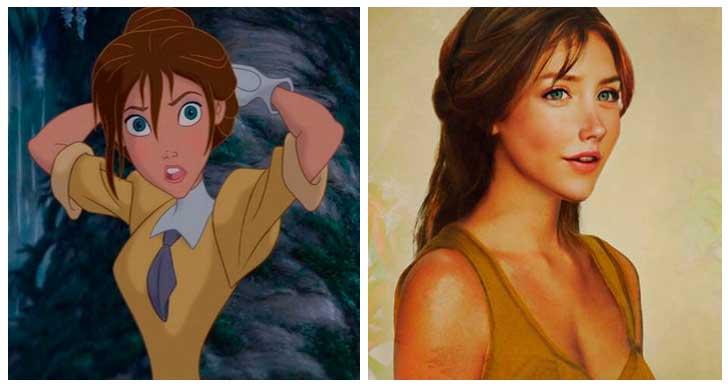 Jane, Tarzán, Princesa de Disney