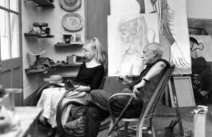 Pablo Picasso y su modelo, Sylvette David. F.Pages/Paris Match/Scoop