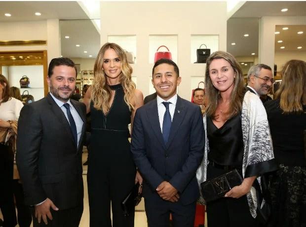 Alexandre Frota, Karen Martínez, Daniel Hernández y Margarita Calle.