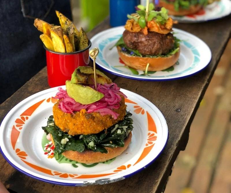 hamburguesa gourmet vegetariana