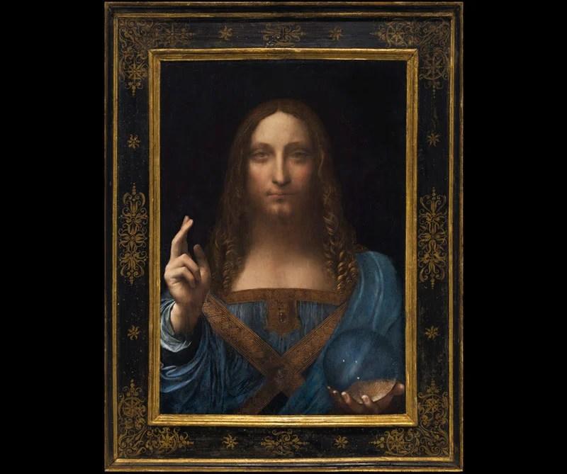 <div>Salvator Mundi: Leonardo da Vinci hizo este óleo en el año 1500. Se considera una de las obras mejor conservadas del italiano. Aunque se debate si la obra es una copia o es la original, la casa de subastas Christie's la vendió a un coleccionista estadounidense por más de 450 millones de dólares.</div>