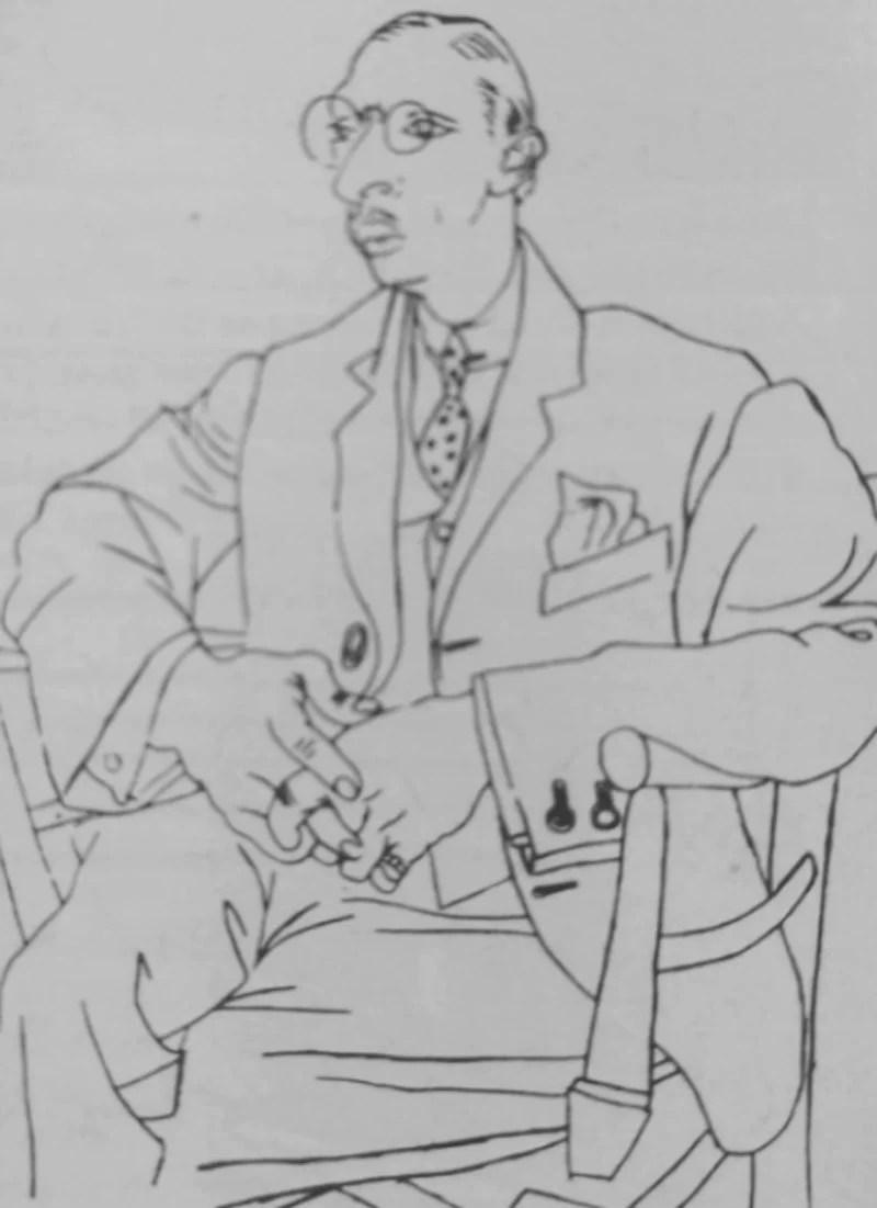 retrato de Stravinsky