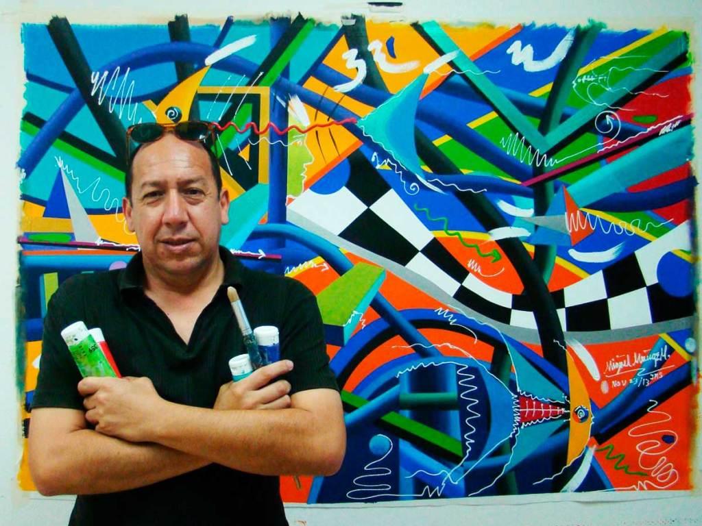 Miguel Muñoz, artista colombiano,