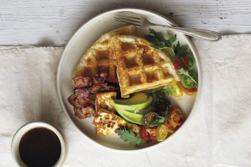 Waffles de pan de yuca