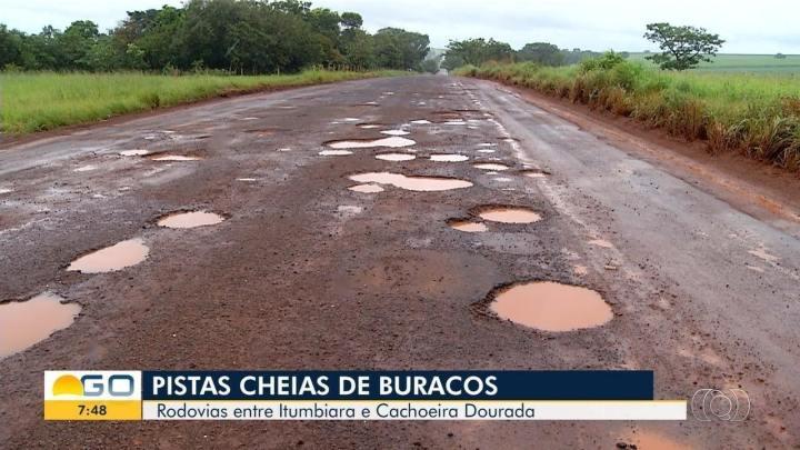 GO: Buracos em rodovia pode ser manobra para governador privatizar estradas