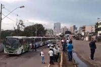 Rodoviários fazem paralisação em Pará de Minas