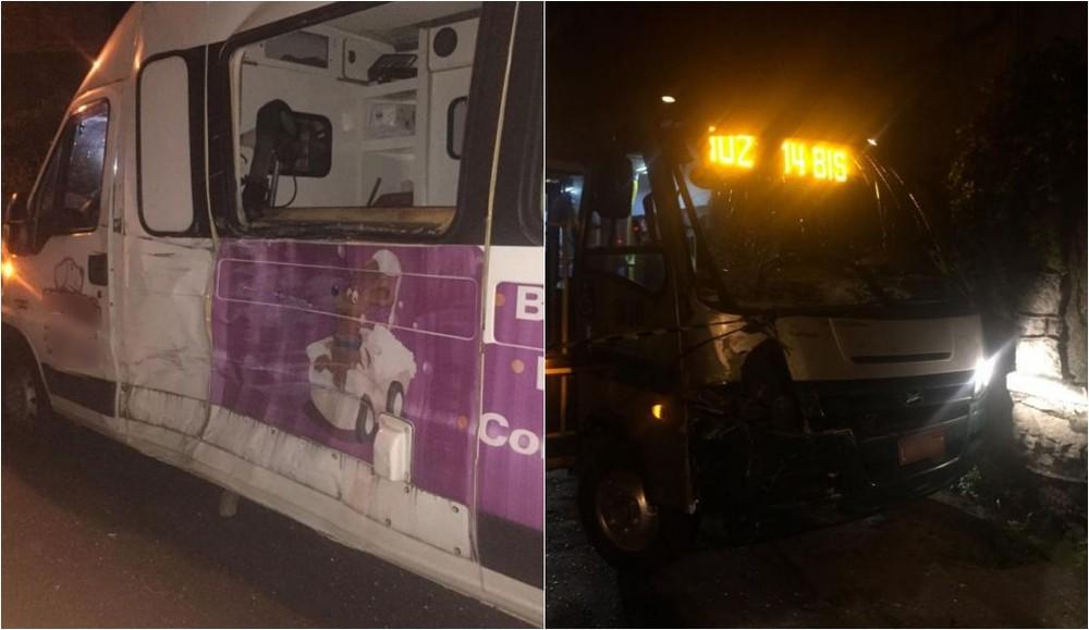 Colisão entre van e micro-ônibus deixa duas pessoas feridas na Região Serrana do Rio