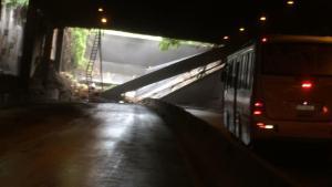 Prefeitura do Rio libera túnel acústico após desabamento