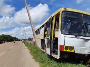 Ônibus na contramão causa acidente na BR-316
