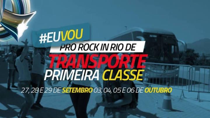 Começa a venda de passagens com ônibus Primeira Classe do Rock in Rio