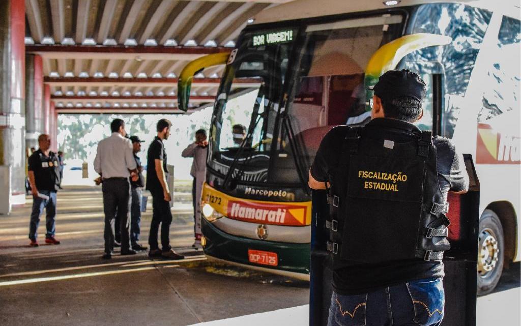 MT: Operação conjunta entre Ager e ANTT apreendem ônibus