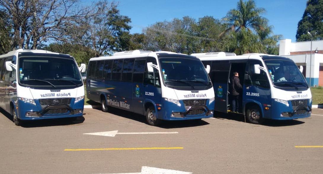 Polícia Militar de Mato Grosso do Sul recebe três micro-ônibus