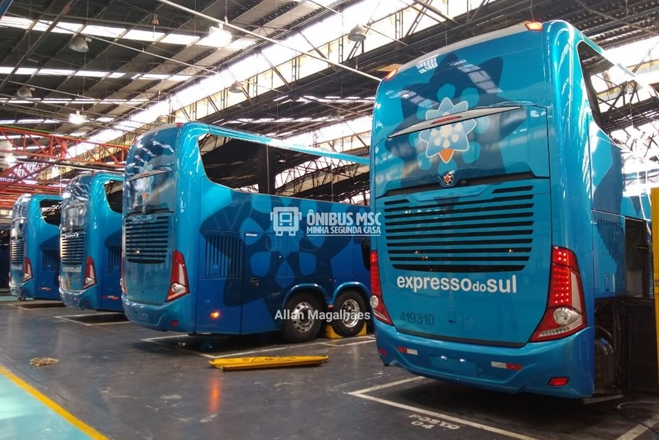 Expresso do Sul chama atenção com os seus novos ônibus Paradiso New G7 DD