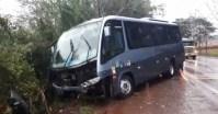 RS: Acidente entre micro-ônibus e carro deixa um morto na BR-468