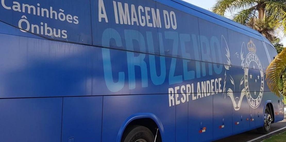 Ônibus do Cruzeiro é atacado  em Minas Gerais