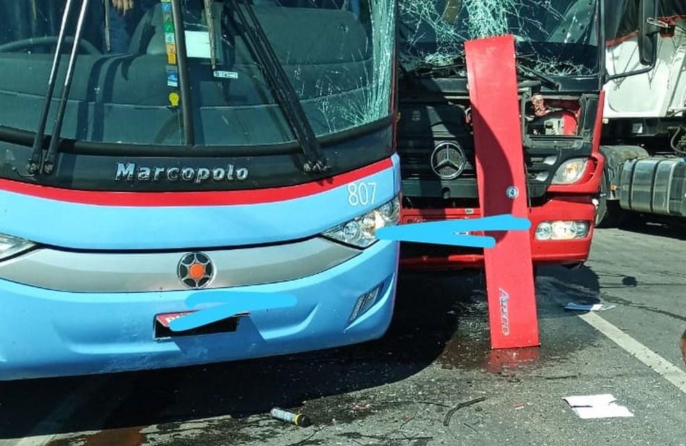 Acidente com ônibus da Expresso Guanabara deixa dois feridos no Ceará