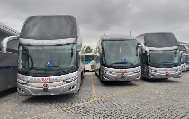 Novos ônibus da Auto Viação 1001 começarão operar na Rio x São Paulo nos próximos dias