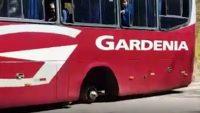 Ônibus da Expresso Gardenia perde roda em estrada do Sul de Minas