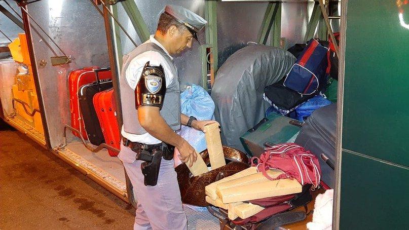 SP: Jovem acaba presa com 15kg de maconha em mala no ônibus da Viação Motta