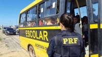 PB: ônibus escolar com lotação acima do permitido é parado pela PRF na BR-230