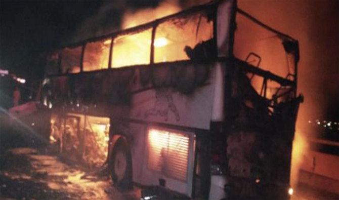 Acidente com ônibus e escavadeira deixa 35 mortos na Arábia Saudita