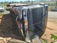 SP: Ônibus da Rápido Campinas tomba na Rodovia Raposo Tavares SP-270