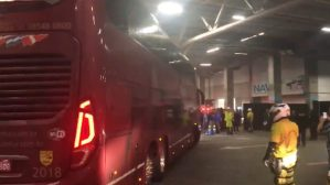 Ônibus do Flamengo é atacado em Porto Alegre