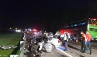 SC: Acidente com ônibus da Princesa dos Campos deixa um morto na BR-116