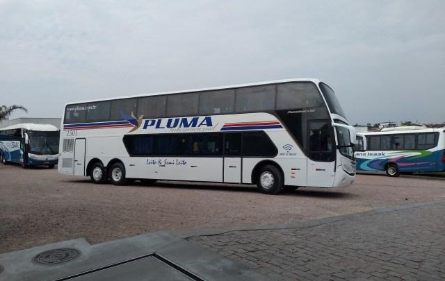 Viação Pluma surge com DD reformado e chama atenção de admiradores e clientes