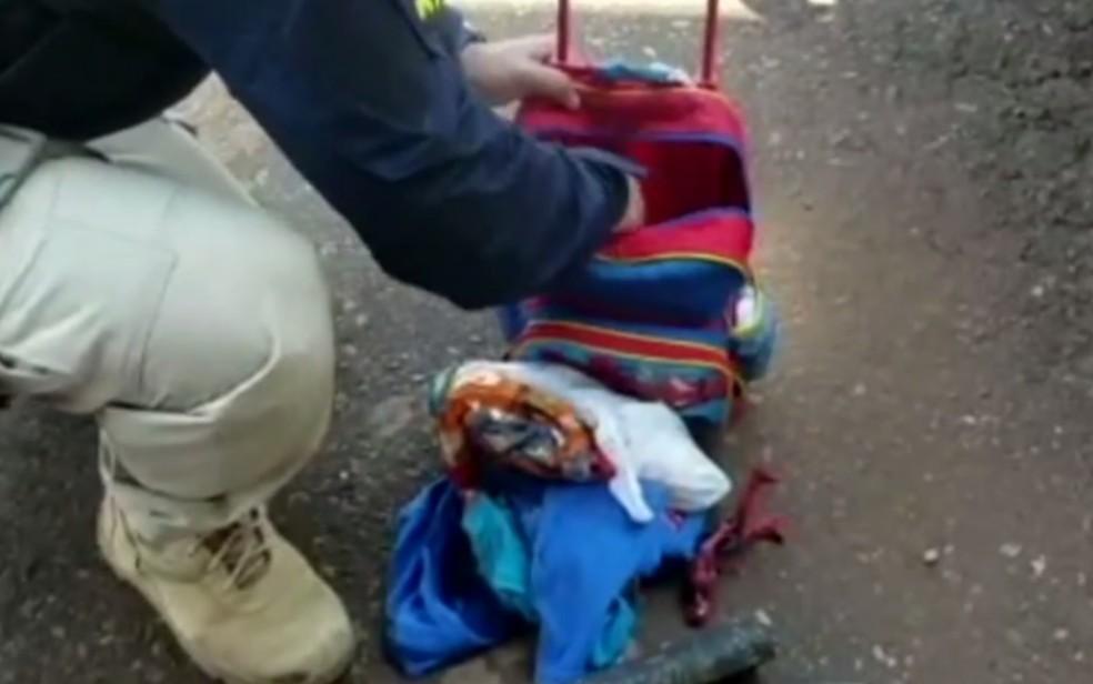 GO: PRF prende casal por usar filho de 3 anos para transportar drogas na BR-060