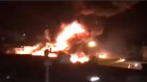 Incêndio destrói seis ônibus e parte de uma casa em Belém
