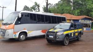 PRF recupera micro-ônibus furtado no interior do Paraná