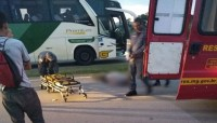 MG: Morre pedestre atropelado por ônibus da Gontijo na BR-262