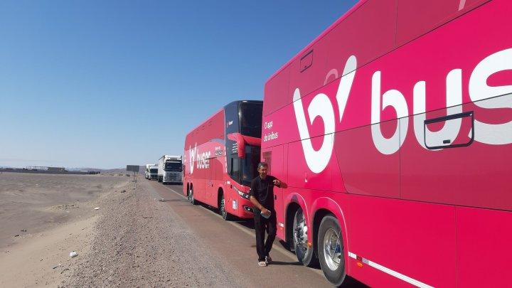 Chile: Ônibus do buser seguem barrados na estrada