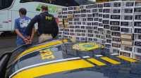 RS: PRF prende duas pessoas com cocaína e cigarros contrabandeados em ônibus da Viação Eucatur