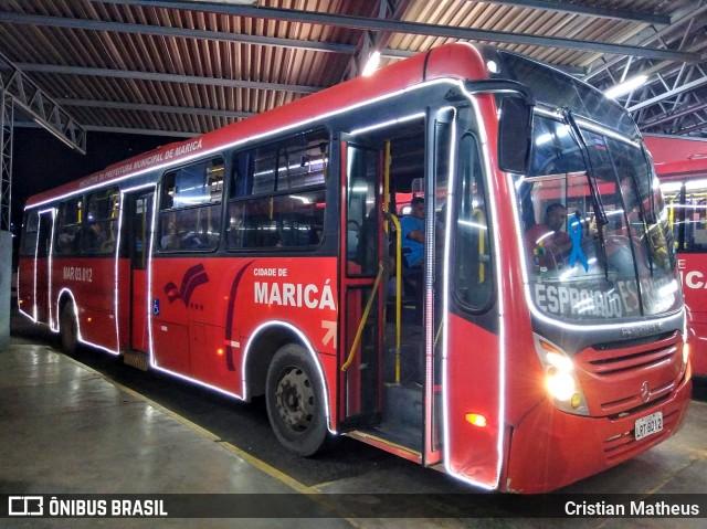 RJ: ônibus de Maricá entram no clima do natal