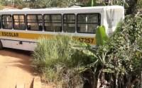 Acidente com ônibus escolar deixa alunos feridos no Sul da Bahia
