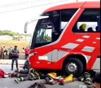 SP: Ciclista acaba atropelado por ônibus da JSL Turismo em Sorocaba