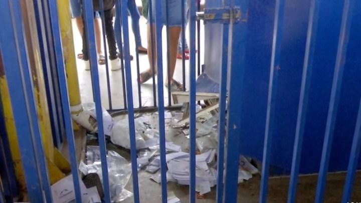 Bandidos assaltam terminal de ônibus em Cuiabá