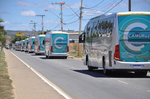 BA: Auto Viação Camurujipe apresenta nova frota de ônibus em Vitória da Conquista